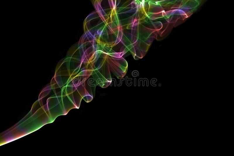 Fumo colorido fotografia de stock royalty free