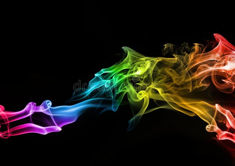 Fumo colorido abstrato