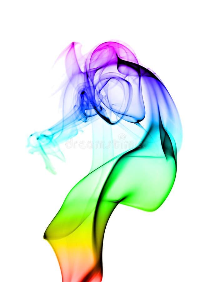Fumo colorido abstrato imagens de stock