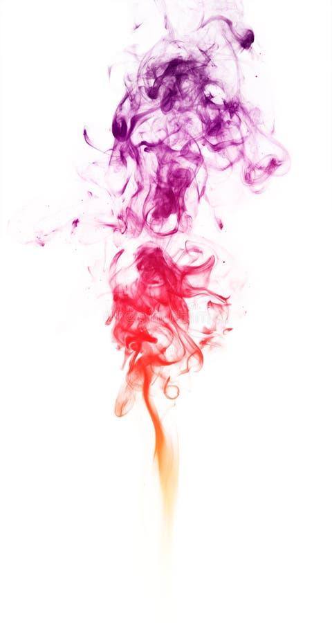 Fumo colorido da fantasia no fundo branco foto de stock royalty free