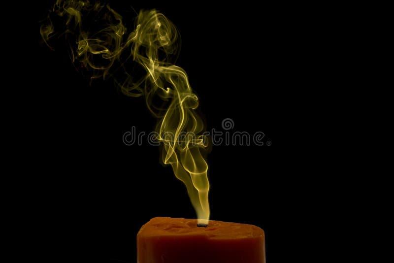 Fumo colorido da vela fotografia de stock royalty free