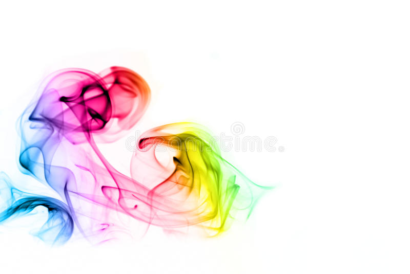 Fumo colorido do arco-íris imagens de stock royalty free