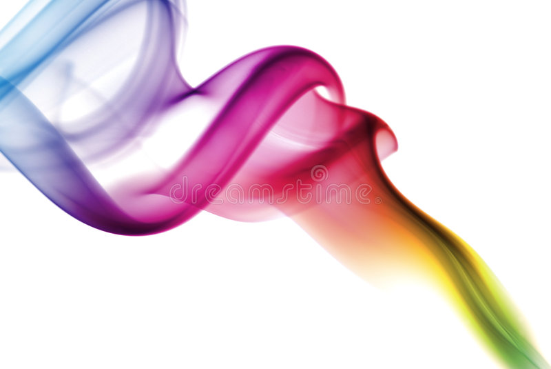 Fumo colorido do arco-íris imagens de stock