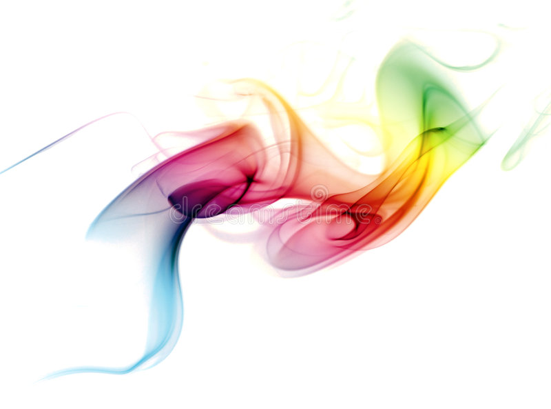Fumo colorido do arco-íris imagem de stock royalty free