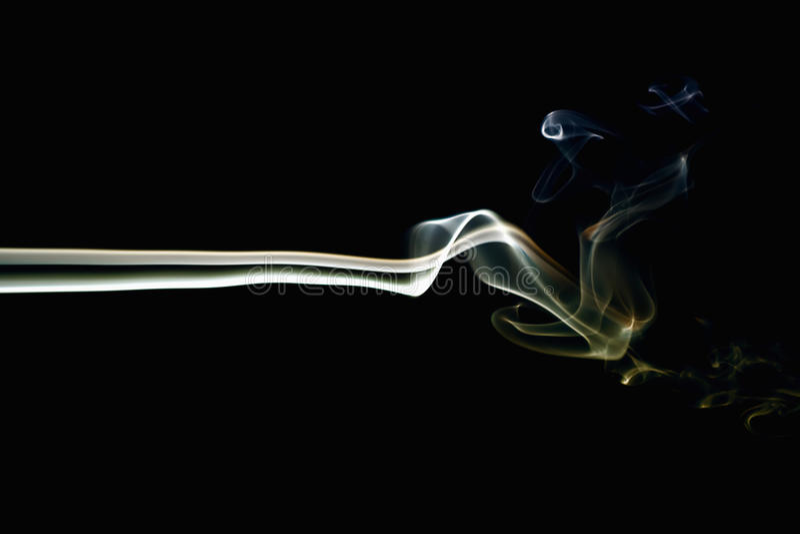 Fumo colorido no preto 5 imagem de stock royalty free