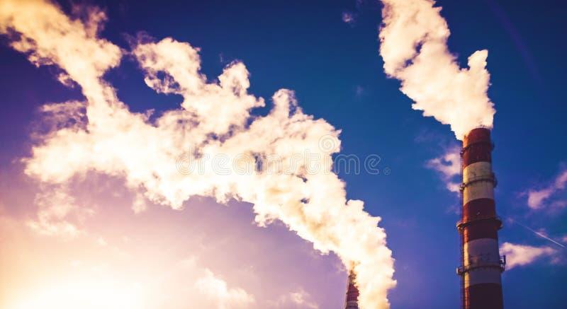 Fumo da energia calorífica imagens de stock