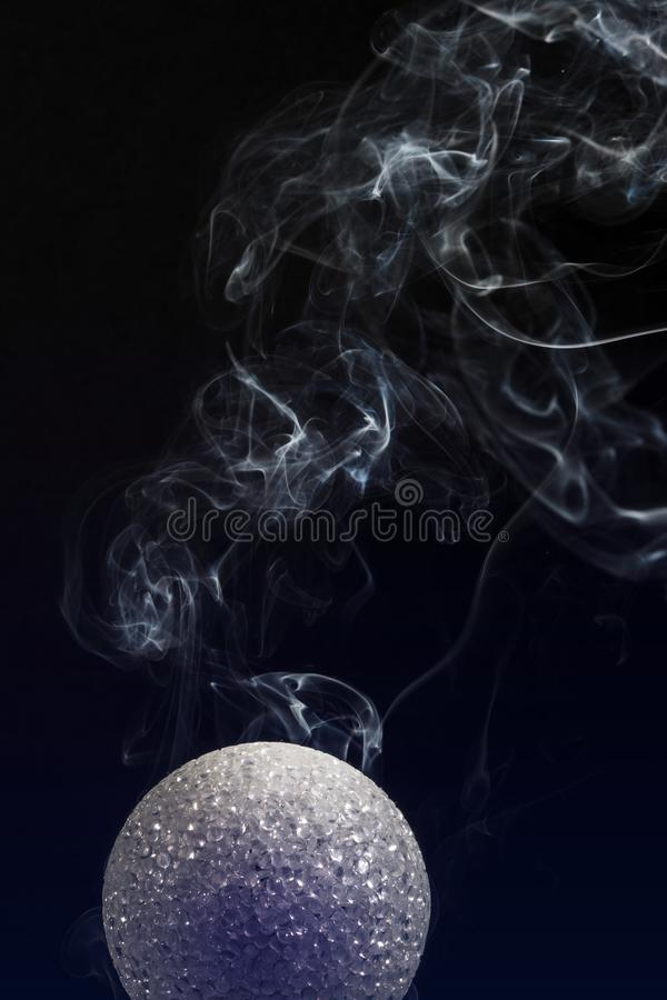 Fumo da esfera mágica foto de stock