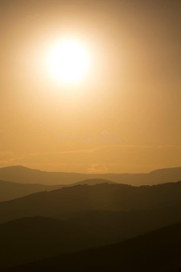 Fumo dal tramonto vicino di Colorado Forest Fires Diffuses This Vail fotografie stock