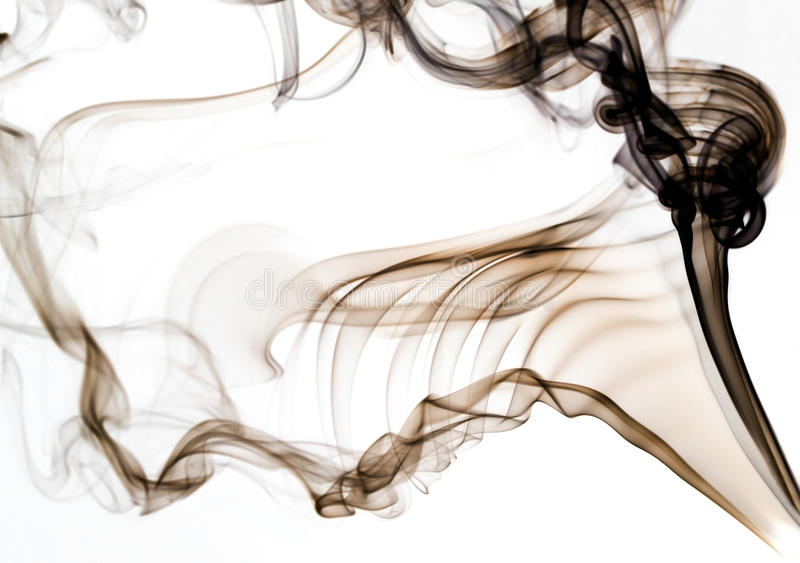Fumo de Brown imagem de stock