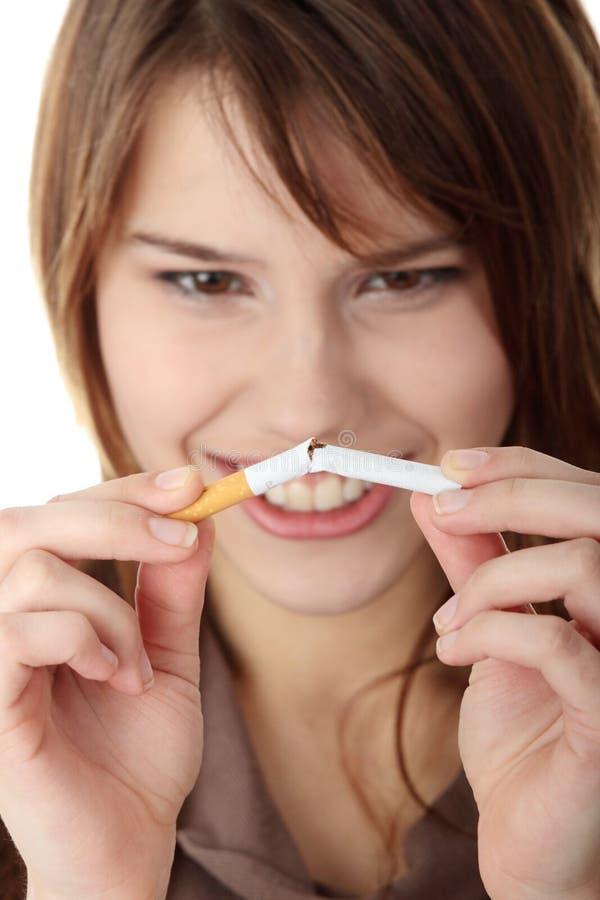 Fumo de Quiting fotografia de stock