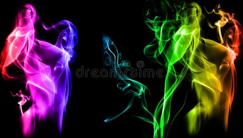 Fumo del fondo fotografie stock
