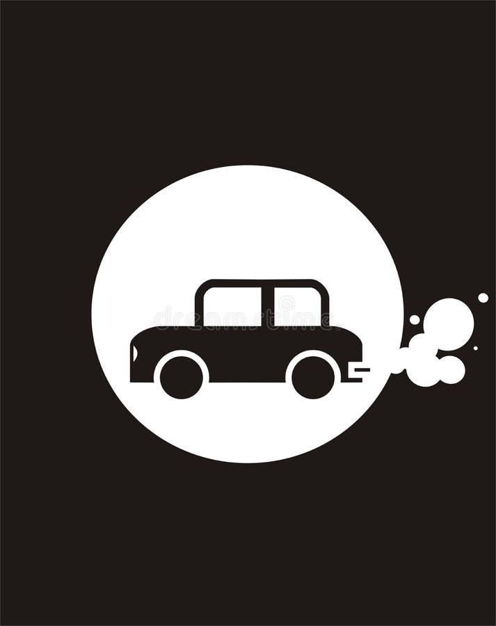 Fumo del Thecar immagini stock libere da diritti