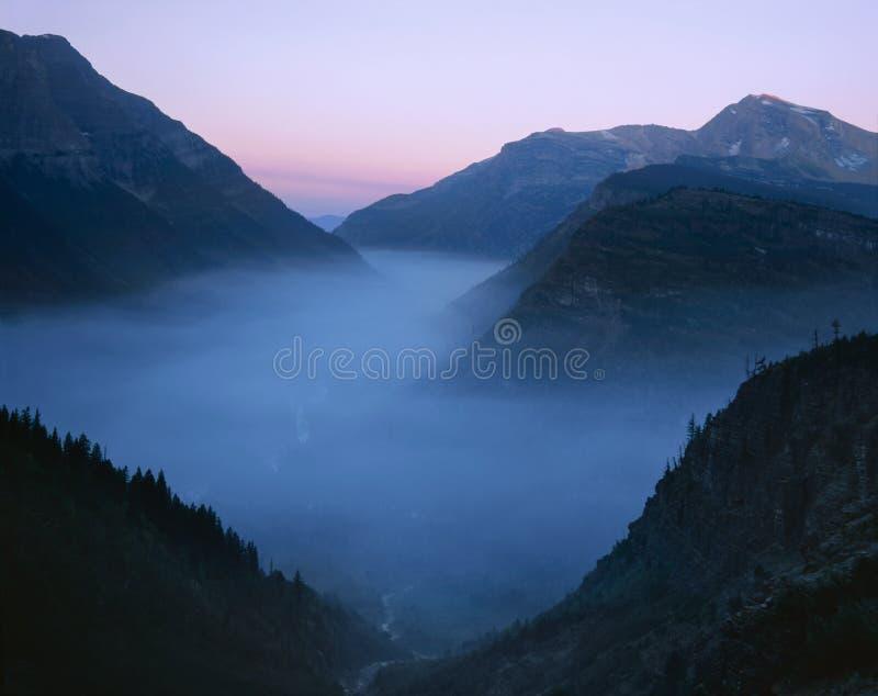 Fumo dell'incendio forestale, sosta nazionale del ghiacciaio immagini stock