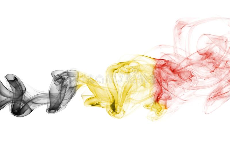 Fumo della bandiera del Belgio fotografia stock