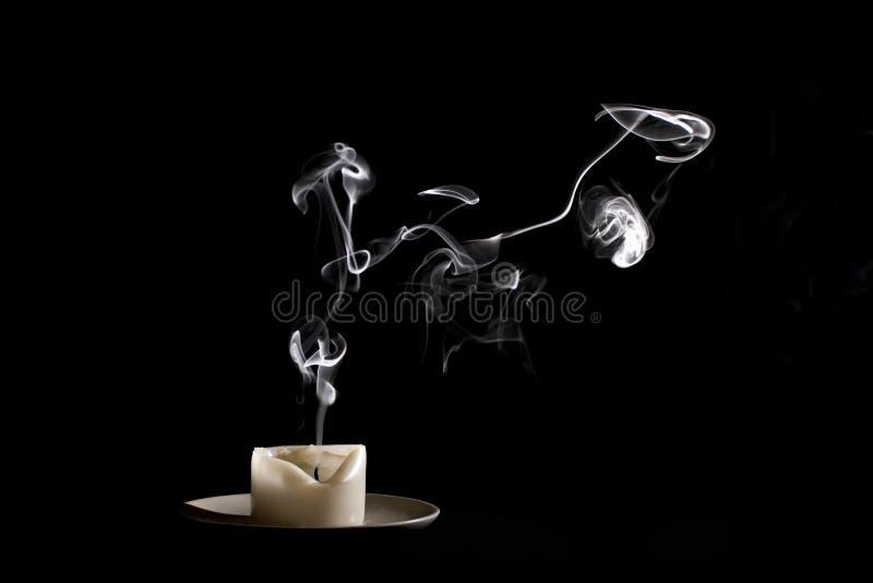 Fumo della candela fotografia stock libera da diritti