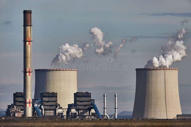 Fumo della centrale elettrica fotografie stock libere da diritti