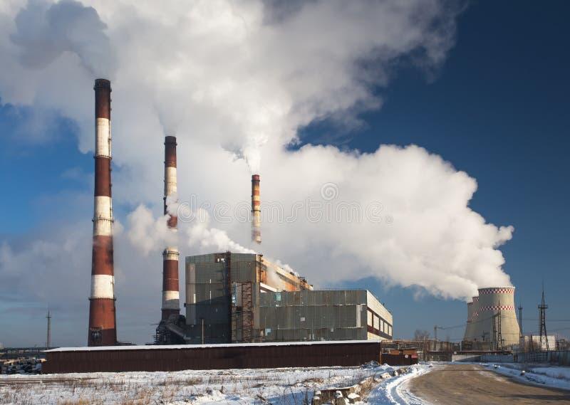 Fumo della centrale elettrica fotografia stock libera da diritti