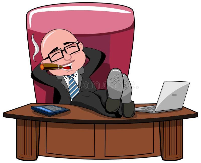 Download Fumo Dello Scrittorio Di Bald Boss Legs Dell'uomo D'affari Isolato Illustrazione Vettoriale - Illustrazione di scrittorio, fumare: 56886140