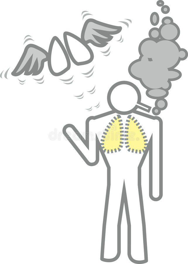 Fumo do homem ilustração do vetor