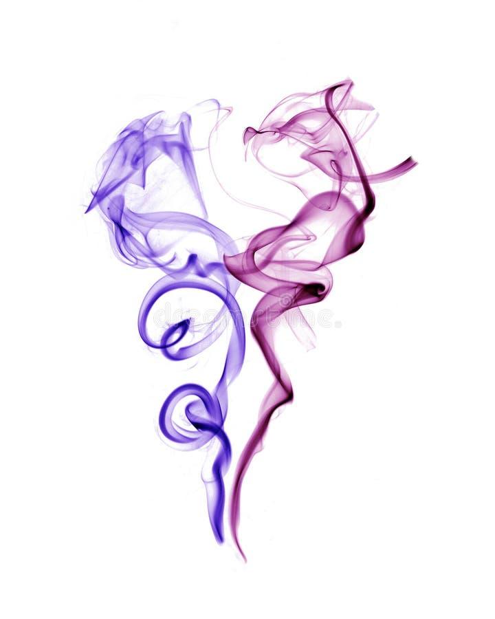 Fumo, fundo branco fotografia de stock royalty free