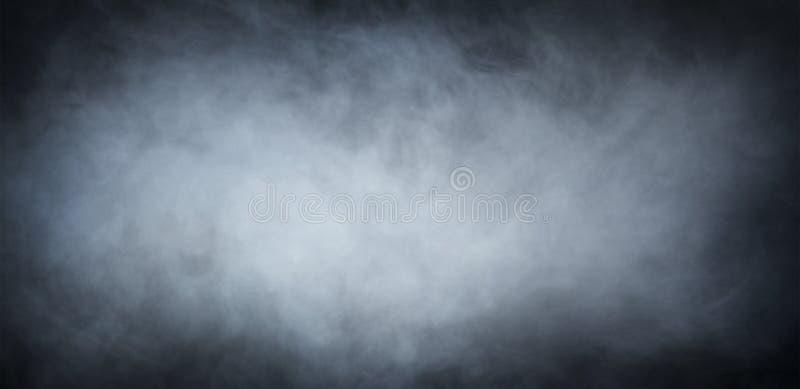 Fumo grigio sopra fondo nero sottragga la priorità bassa fotografia stock libera da diritti