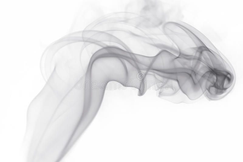Fumo grigio su fondo bianco fotografia stock