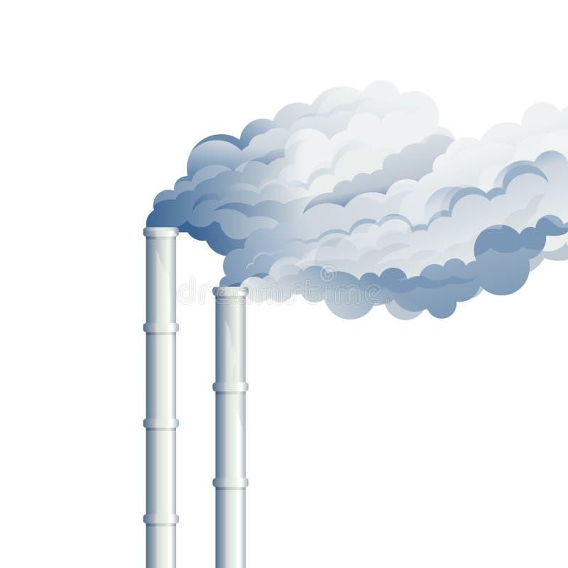 Fumo industriale del camino illustrazione di stock