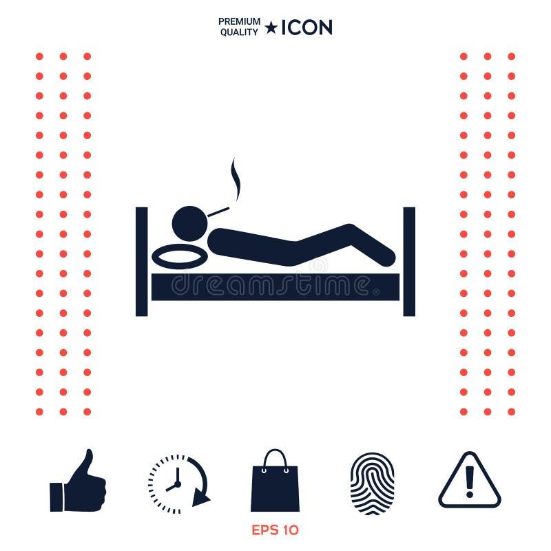 Download Fumo a letto dell'icona illustrazione vettoriale. Illustrazione di lifestyle - 117976900
