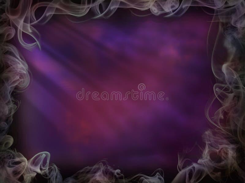 Fumo mágico do fundo para a parede leve cor-de-rosa roxa de Dia das Bruxas ilustração royalty free