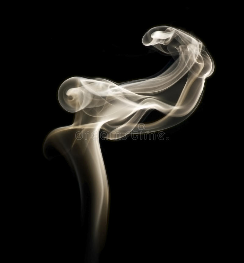 Fumo Melancholic fotografia stock