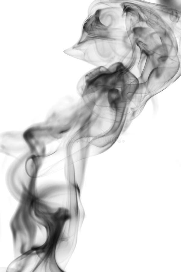 Fumo no fundo branco fotos de stock royalty free