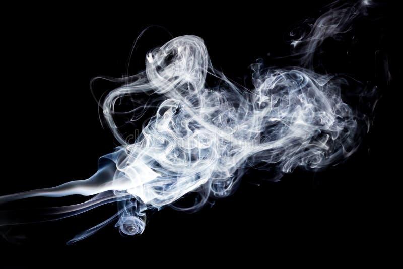 Fumo no fundo preto ilustração royalty free