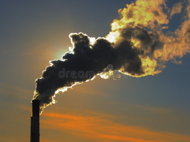 Fumo no por do sol 3 imagens de stock