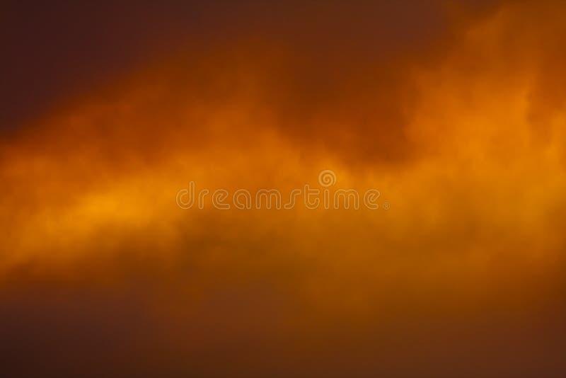 Fumo no por do sol imagem de stock