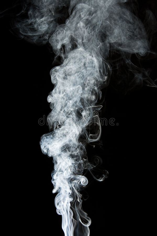 Fumo no preto fotografia de stock