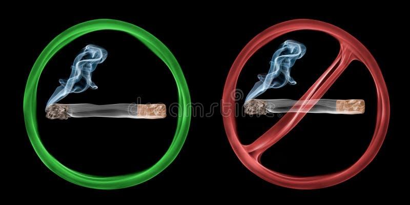 Fumo Permesso E Severo Fotografia Stock