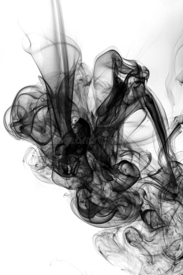 Fumo preto abstrato imagem de stock