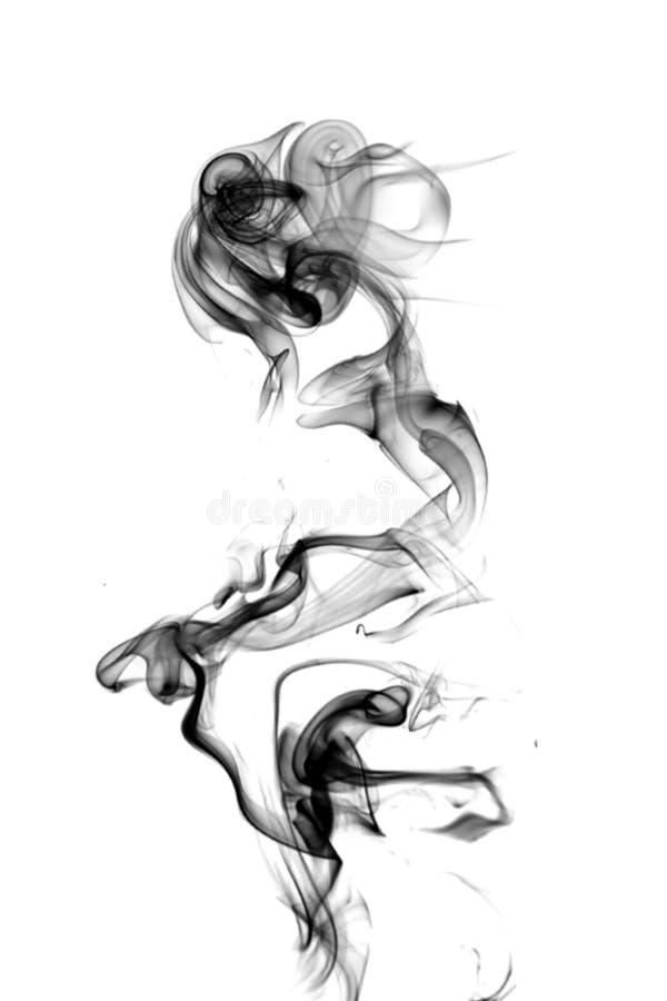 Fumo preto em um fundo branco foto de stock royalty free