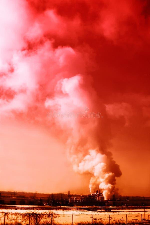 Fumo rosso fotografia stock