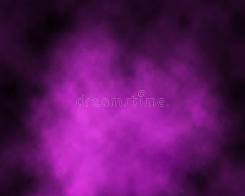 Fumo sopra fondo porpora fotografie stock libere da diritti