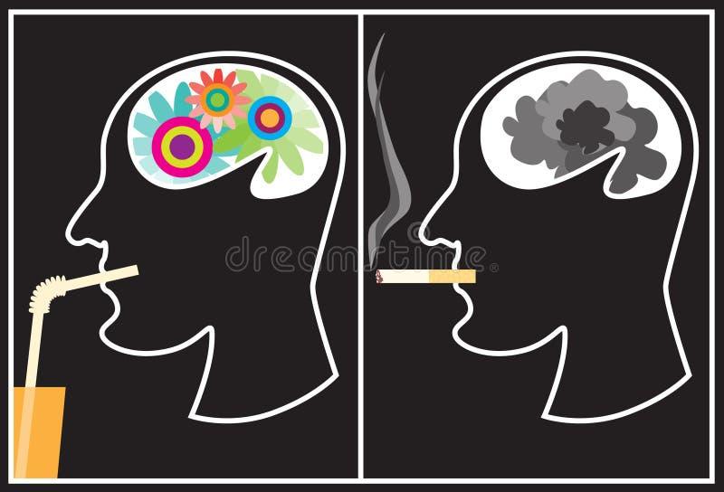 Fumo - um dano! ilustração royalty free