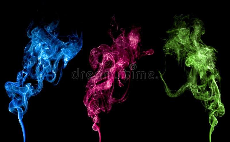 Fumo variopinto astratto fotografia stock