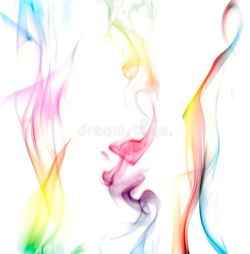 Fumo variopinto del Rainbow tre fotografia stock libera da diritti