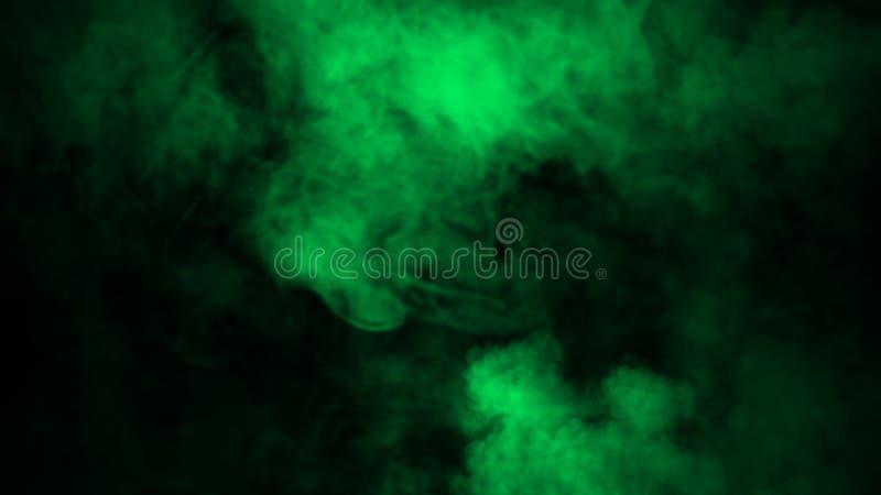 Fumo verde do borrão no assoalho Fundo isolado da textura ilustração royalty free