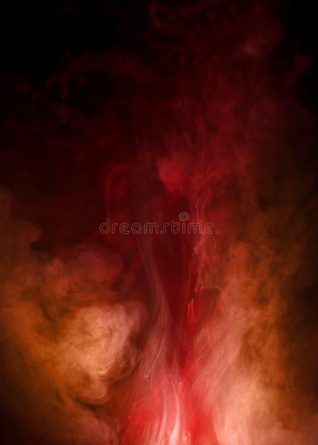 Fumo vermelho e alaranjado intrincado foto de stock royalty free