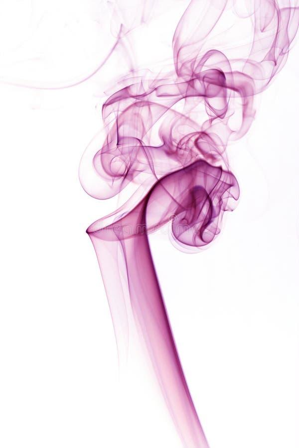 Fumo viola fotografia stock