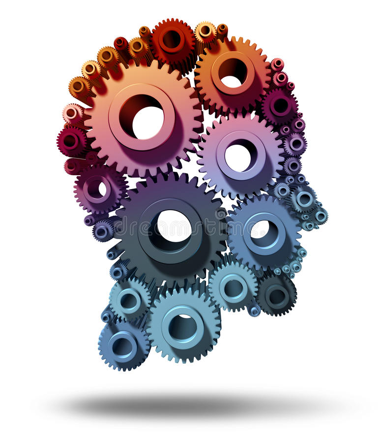 Função do cérebro ilustração do vetor