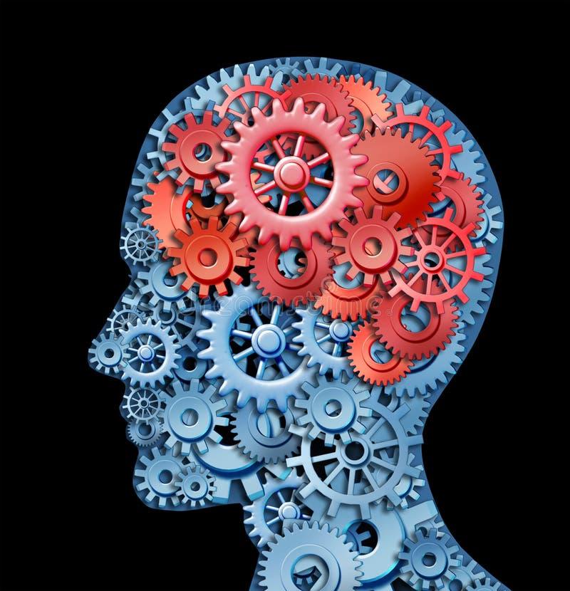 Função do cérebro humano ilustração do vetor