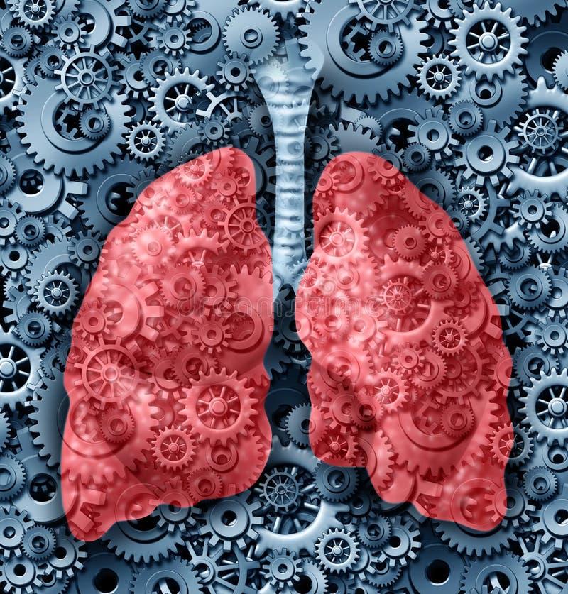 Função pulmonar humana ilustração royalty free