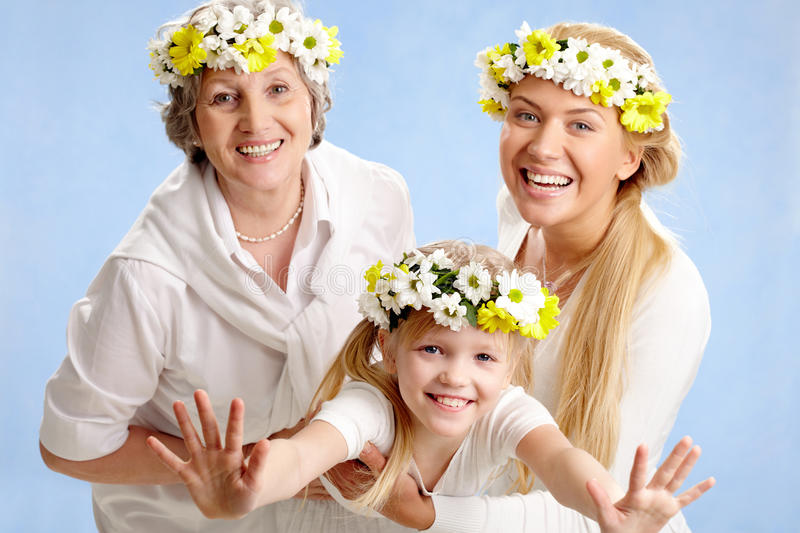 Download Fun stock photo. Image of flower, aged, child, mother - 13966712